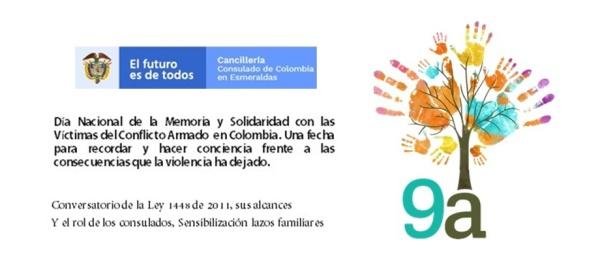 Con un conversatorio el Consulado de Colombia en Esmeraldas se une a la conmemoración Día Nacional de la Memoria
