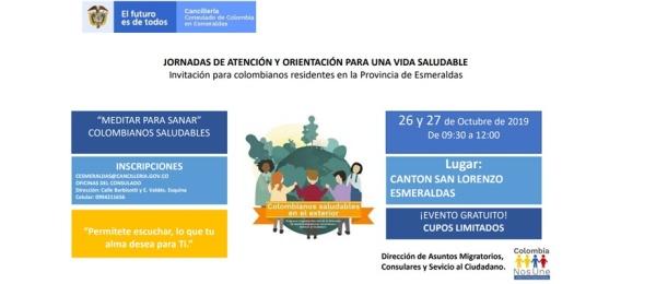 Consulado de Colombia en Esmeraldas invita a las jornadas de atención y orientación