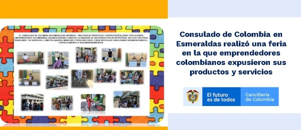 Consulado de Colombia en Esmeraldas realizó una feria en la que emprendedores colombianos