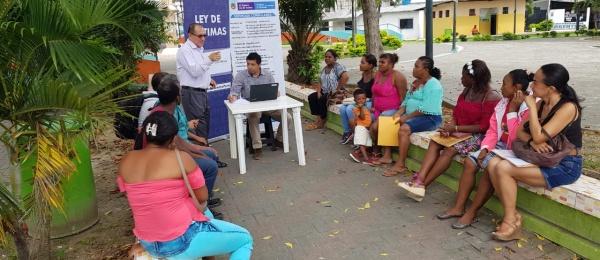 Consulado de Colombia en Esmeraldas adelantó campaña para notificar e informar a los connacionales que puedan ser víctimas